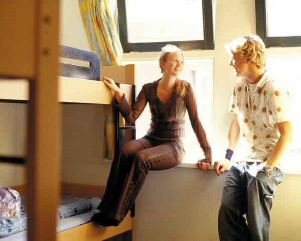 Kursfahrt Stayokay Amsterdam Vondelpark- Zimmerbeispiel