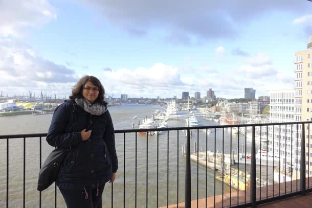 Plaza - grandioser Blick auf Hafen und City