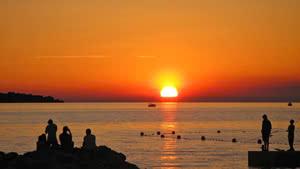 Sonnenuntergang Istrien