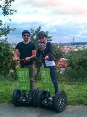 Segway-Tour mit Blick auf Prag