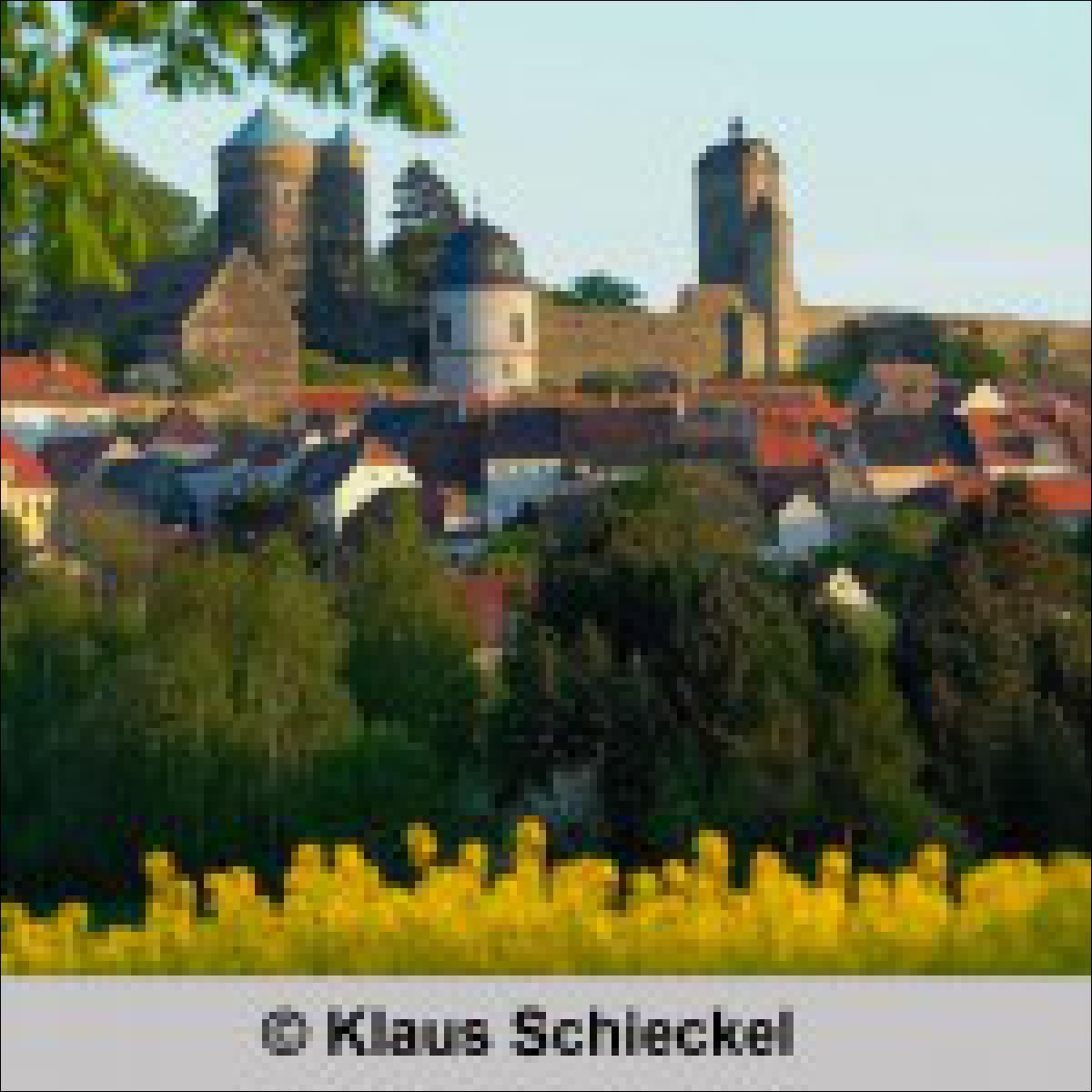 Blick auf die Burg Stolpen - von Klaus Schieckel