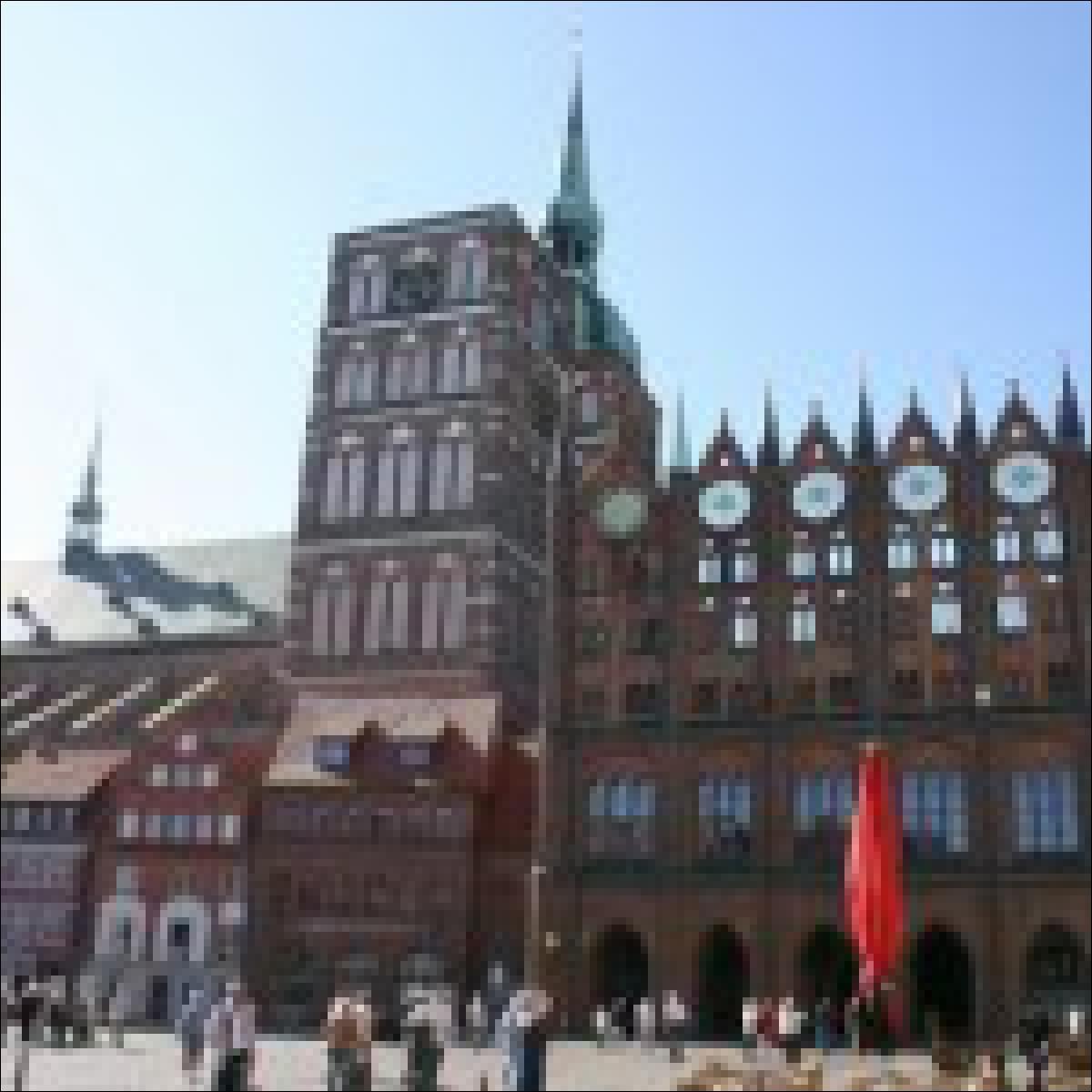 Das Rathaus in Stralsund