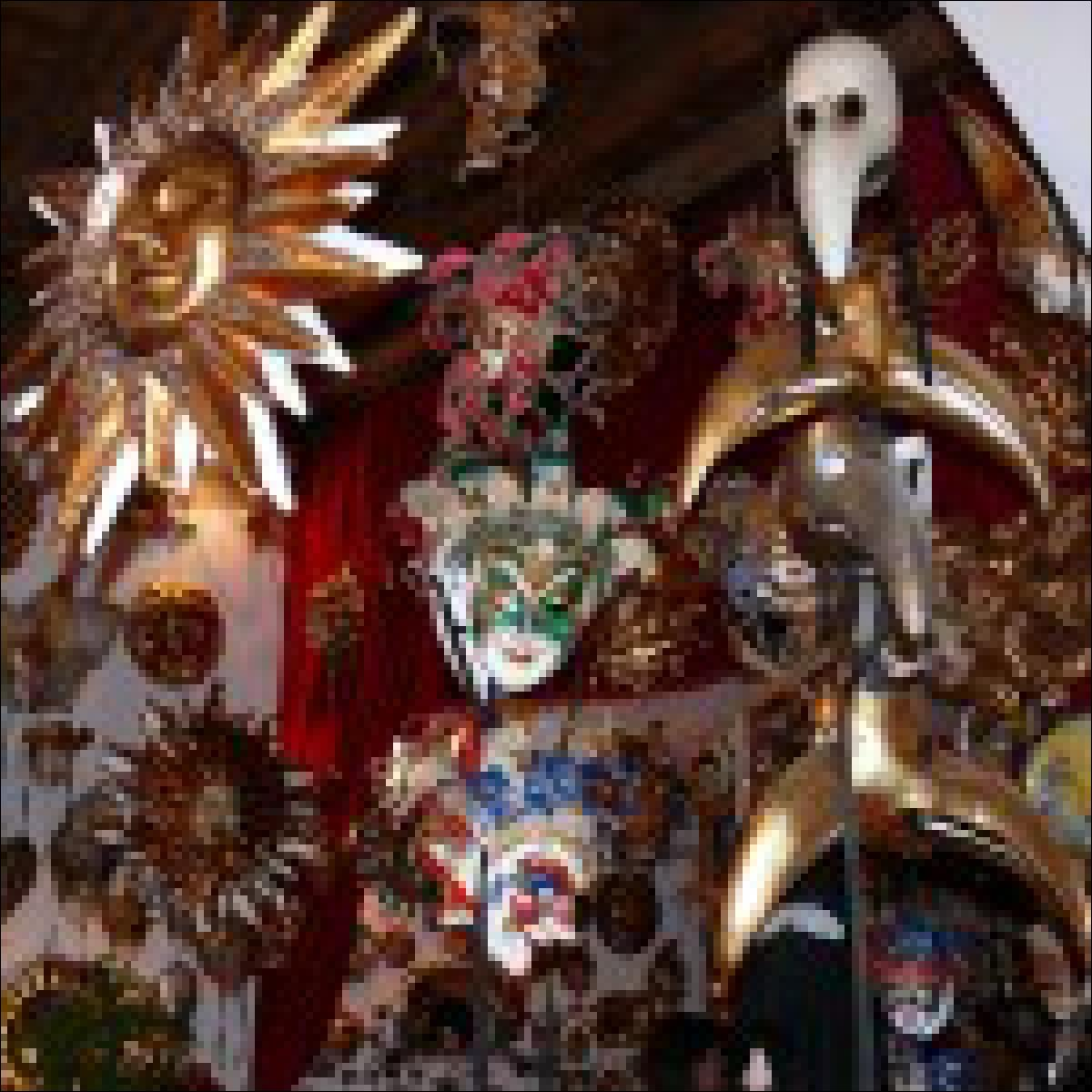 Typische Auswahl eines Maskenhändlers