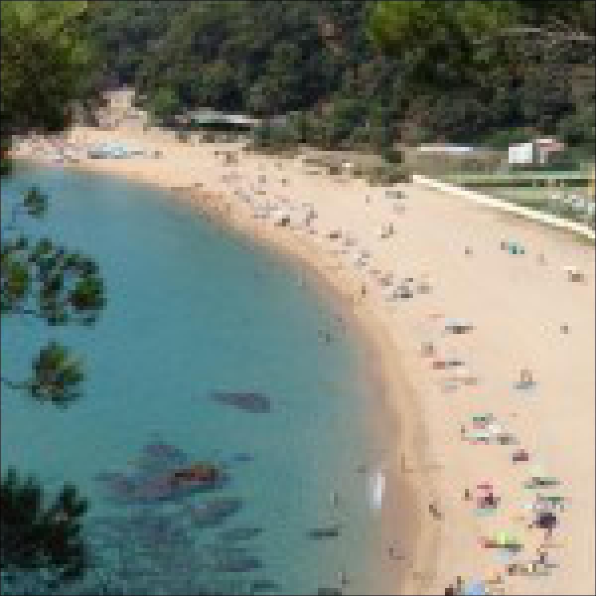 Strand in der Nähe von Barcelona
