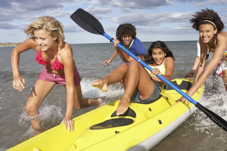 Sportliche Klassenfahrt am Meer