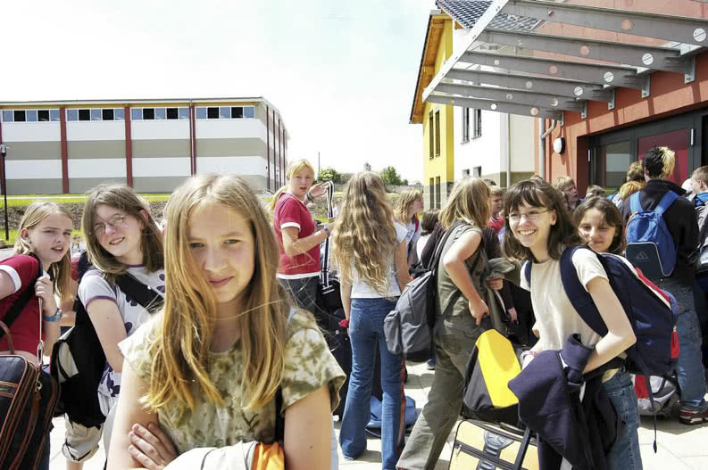 Schüler auf Klassenfahrt