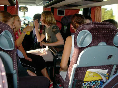 Regeln auf der Busfahrt mit Schülerinnen und Schülern