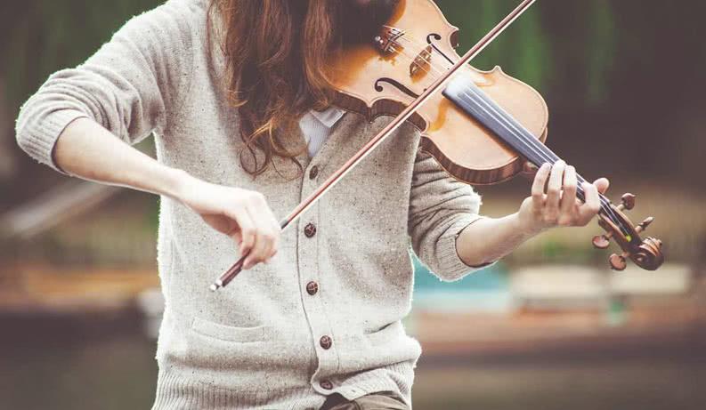 Mädchen mit Violine